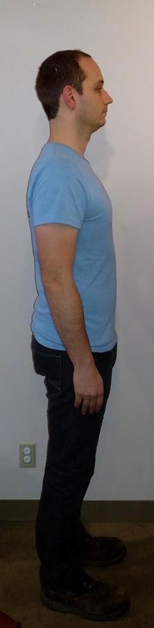 Good Posture- only slight forward head